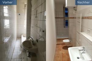 Sanierung Altbauwohnung Bad vorher nachher