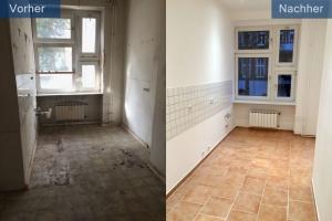 Sanierung Altbauwohnung Küche vorher nachher