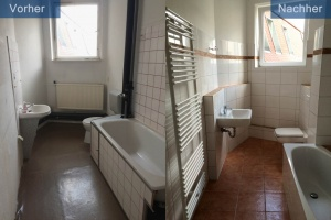 Wohnungssanierung Bad vorher nachher