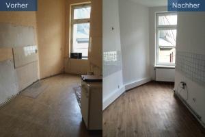 Wohnungssanierung Küche vorher nachher