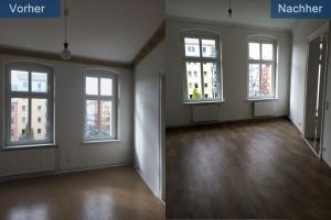 Wohnungssanierung Zimmer vorher nachher